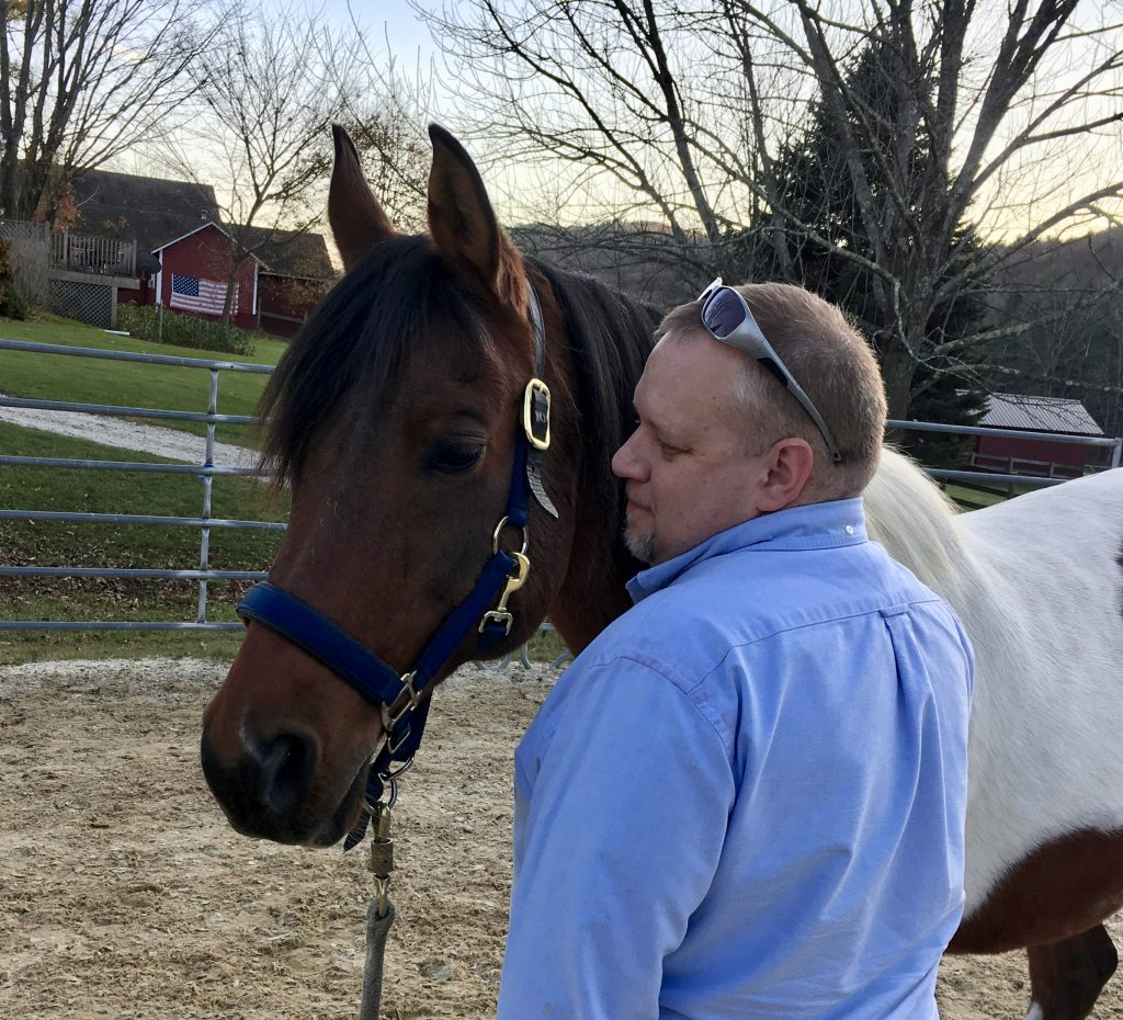 Mike Zacchea with Equus Effect horse